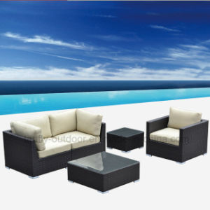 Foshan Patio Furniture Arm Chair Sofa Set with Waterproof Cushion.
