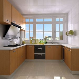 PVC Veneer for Making Kitchen Cabinet by Vacuum Press pictures & photos