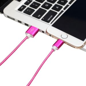 High Quality 5V 2A Nylon Insulated 8 Pin Lightning USB Cable pictures & photos