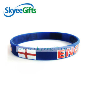 Printing UK Flag Silicone Bracelets or Silicone Wristband pictures & photos