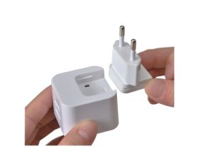 5V 2A Plug Exchangeable Dual USB Travel Charger for iPhone/iPad pictures & photos
