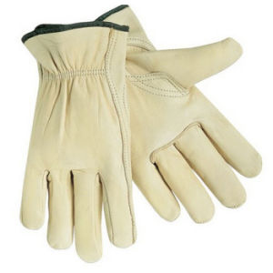 Cut Resistant Cow Grain Leather Working Driving Gloves for Drivers pictures & photos