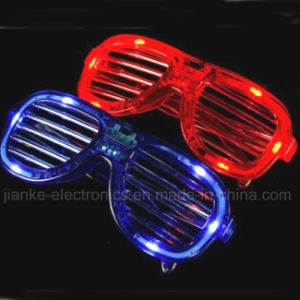 2015 Plastic Light up LED Sunglasses with Logo Print (4039) pictures & photos
