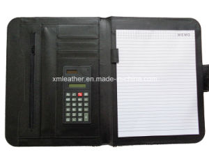 Non Zip Legal Size PU Conference Portfolio with Calculator pictures & photos