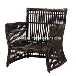 Top Quality Cheap Synthetic Big Round Rattan Outdoor Garden Furniture Sofa Set by 3-Seat Sofa & Single Sofa (YT603) pictures & photos