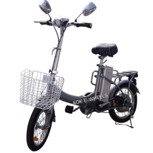 "16"" Folding Electric Bicycle with LED Headlight (FB-006) pictures & photos"