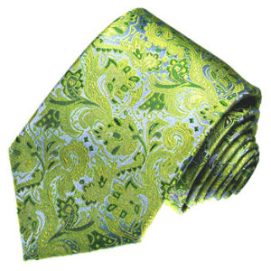 New Fashion Gold Paisely Design Men′s Woven Silk Neckties pictures & photos