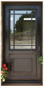 French Style Wrought Iron Door with Square Top pictures & photos