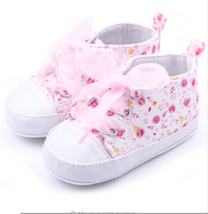 Baby Shoes Cotton Floral Infant First Walker Toddler Shoes (AKBS6) pictures & photos