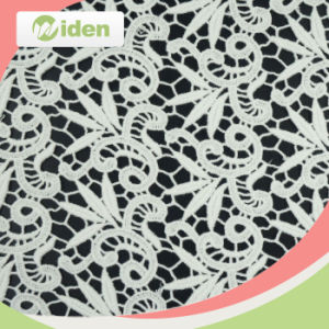 125cm White Fancy Guipure Water Chemical Embroidery Lace Fabric pictures & photos