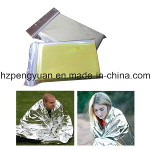 Outdoor Emergency First Aid Thermal Aluminum Foil Blanket pictures & photos