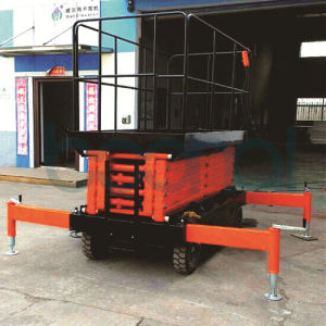 4m AC Hydraulic Scissor Lift/Lifting Equipment for Aerial Work pictures & photos