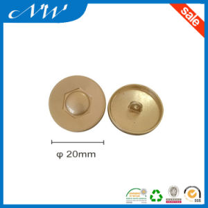 Fashion Metal Zinc Alloy Button with Back Side Hook pictures & photos