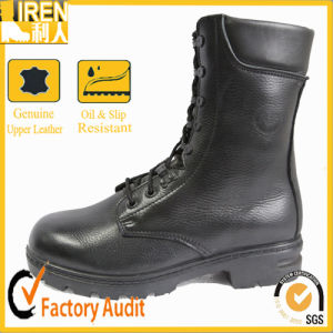 Genuine Leather Smart Lace Military Combat Boots pictures & photos