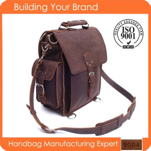 2015 Design Manufacturer Customized Fashion Genuine Leather Backpack pictures & photos