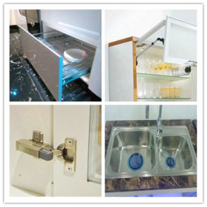 African Exports Sample Kitchen Cabinets Special Offer with Blum Accessories pictures & photos
