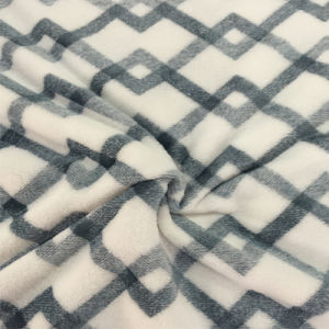 100% Polyester Cation 3 Jacquard Flannel Fleece pictures & photos
