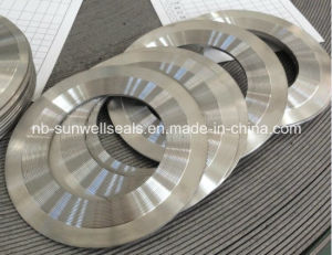 High Pressure Kammprofile Gasket with Outer Ring/Grooved Profile Gaskets (SUNWELL) pictures & photos