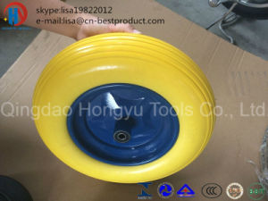 Fctory Produce Yellow Colour PU Foam Wheel pictures & photos