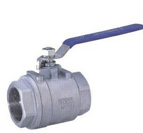 Screw Female Thread End 2PC Type Ss304 Ball Valve pictures & photos