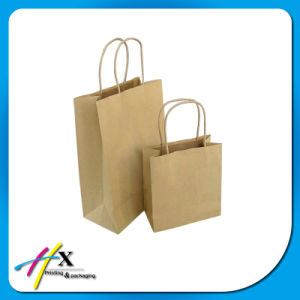 Custom High Quality Kraft Paper Shopping Bag with Logo pictures & photos