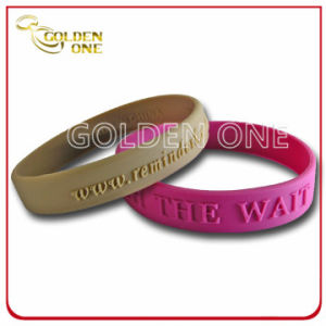 Hot Sale Promotion Gift Embossed Logo Silicon Bracelet pictures & photos
