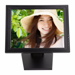 """Stable Stand VGA USB Inputs POS Use 15"""" / 15 Inch Resistive LCD Touch Screen Monitor pictures & photos"""