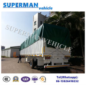 13m 3 Axle Side Wall Cargo Van Semi Truck Trailer Heavy Duty pictures & photos