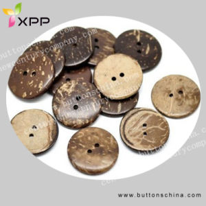 2h Natural Coconut Shell Button pictures & photos