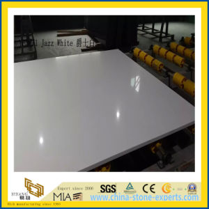 Polished Jazz White Artificial Quartz Slabs for Kitchen Countertops (YQC) pictures & photos