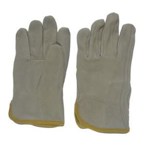 Pig Leather Working Safety Driving Gloves for Drivers pictures & photos