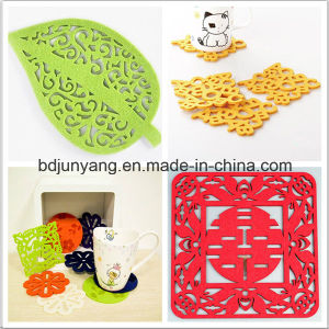 Hot Selling Christmas Decorations Polyester Felt Coaster Felt Pads Mats pictures & photos