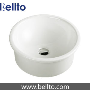 Round Sanitary Ware Self-Rimming Wash Basin for Lavatory (6052) pictures & photos