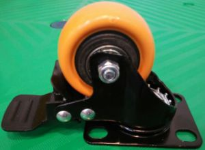 2 Inch Rotating PU Castor Wheel with Total Brake pictures & photos
