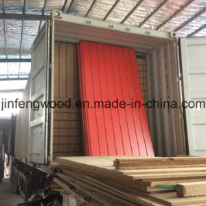Red Color Melamine MDF with Slot pictures & photos