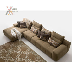 Modern Fashion Living Room Sofa Set with Chaise (1606) pictures & photos