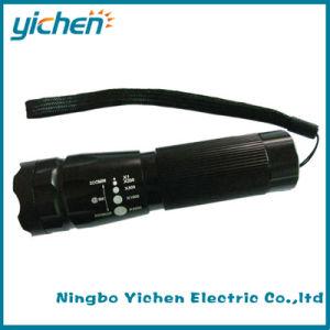 Ajustable Zoom Telescopic LED Flashlight (YC703FT-1W)