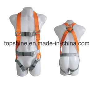 China Factory Professional Adjustable Working Polyester Full-Body Safety Harness Belt pictures & photos
