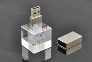 Custom 3D Laser Logo Square USB Pen Drive pictures & photos