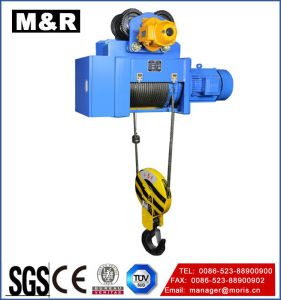 25 Ton Wire Rope Electric Hoist with Single Hook pictures & photos