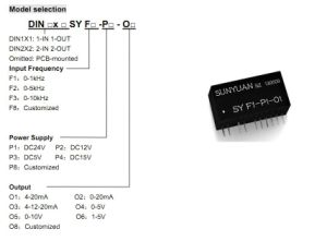 Fv/Fi Frequency to DC Current/Voltage Converter Sy F1-P1-O 3 pictures & photos