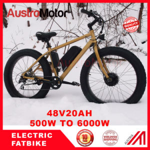"""20"""" 26"""" Fat Tire MID Drive Electric Bike 750W Brushless"""