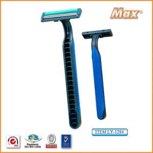 Twin Stainless Steel Blade Disposable Razor Fro Man (LY-1284) pictures & photos