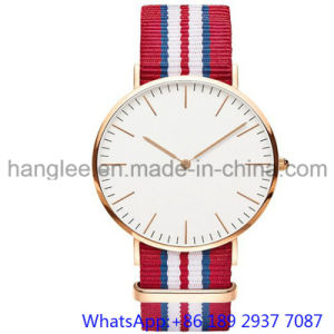Top-Quality Stainless Steel Quartz Watch Nylon Band Japan Movet for Man′s 15201 pictures & photos