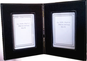 10 X 15 Black Leather Photograph Frame Book pictures & photos