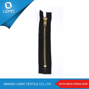Gold Teeth Metal Zipper for Men Shoes pictures & photos