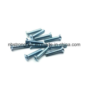 pH Cross Recessed Countersunk Flat Head Screw with White Zp pictures & photos
