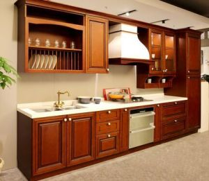 American Style Solid Wood Kitchen Cabinet (cherry 6) pictures & photos