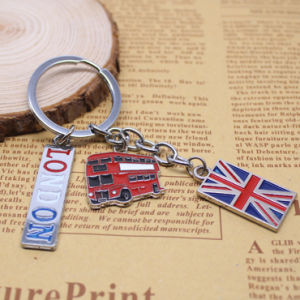 British Style Promotion Custom Logo Metal Souvenir Gift Keychain pictures & photos