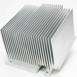Clear Anodizing High Ratio CNC Machining Aluminum Skived Fin Heat Sink